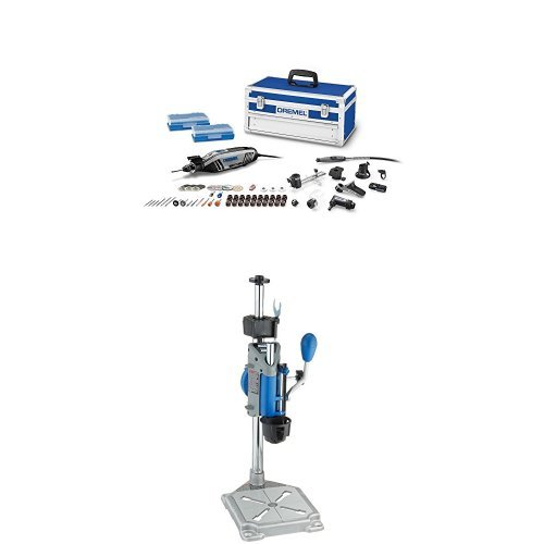 Dremel High Performance Rotary Tool Kit with Rotary Tool Workstation Drill Press Work Station and Wrench