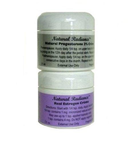 Eclat Naturel Estro Pack de progestérone et les œstrogènes / Estriol Cream Jar, 2 once