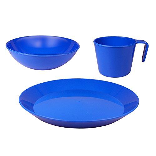 Blue Sky Gear PackWare Dish Set in Mesh Bag, Blue
