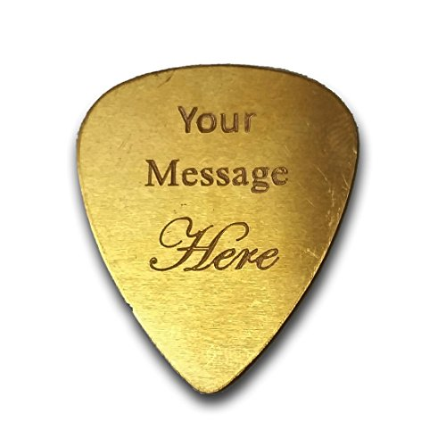 Personalized Add Your Own Engraved Text Guitar and Bass Pick Custom Customizable Gift (Guitar Pick Engraving)