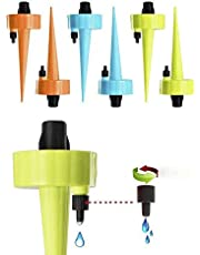 Self Watering Spikes,Plant Waterer (6 pack),Plant Watering Devices 2020 Upgrade, Automatic Vacation Drip Irrigation Watering Bulbs Globes Stakes System with Slow Release Control Valve Switch for Potted