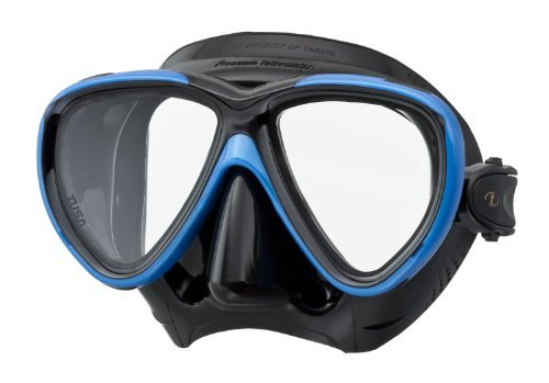Tusa M-211 Black Freedom One Scuba Diving and Snorkeling Mask - Fishtail Blue/Black by Tusa by Tusa