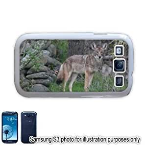 Coyote In The Woods Photo Samsung Galaxy S3 i9300 Case Cover Skin White