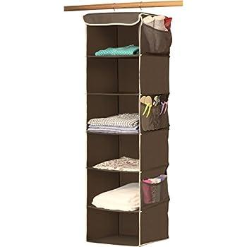 SimpleHouseware 6 Shelves Hanging Closet Organizer, Bronze