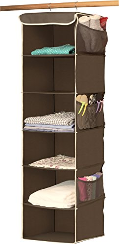 SimpleHouseware 6 Shelves Hanging Closet Organizer, Bronze