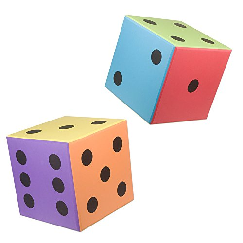 Nordesco Foam Dice, 8'' x 8'', Pair by Nordesco