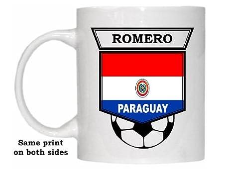 Amazon.com: Julio Cesar Romero (Paraguay) Soccer Taza ...
