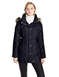 London Fog Women's Packable Down Quilted Coat