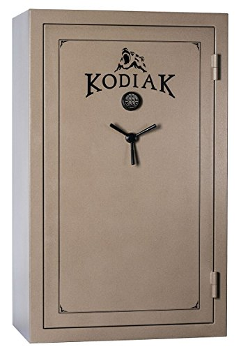 Kodiak K7144EX Gun Safe by Rhino Metals, 58 Long Guns & 10 Handguns, 860 lbs, 60 Minute Fire Protection, Electronic Lock, Patented Swing Out Gun Rack Compatible and Bonus Deluxe Door Organizer