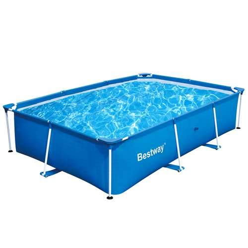 Bestway 118 x 79 x 26 Inches 871 Gallon Deluxe Splash Frame Kids Swimming Pool - Level Best Deluxe Pool