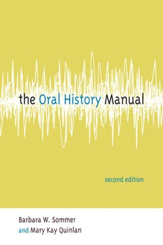 Download The Oral History Manual:2nd (Second) edition PDF