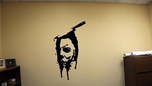 (Advanced store Knife Face Michael Myers Dead Horror Vinyl Wall Decals Halloween Decor Stickers Vinyl Mural)
