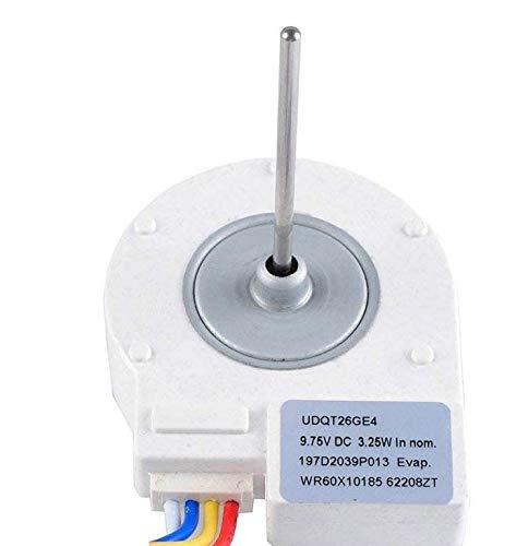 Wadoy WR60X10185 Evaporator Fan Motor for GE Refrigerator//Freezer Replaces WR23X10353 WR23X10355 WR23X10364