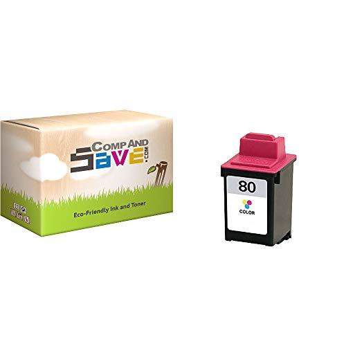 - CompAndSave Replacement for Lexmark 80 12A1980 Color Ink Cartridge
