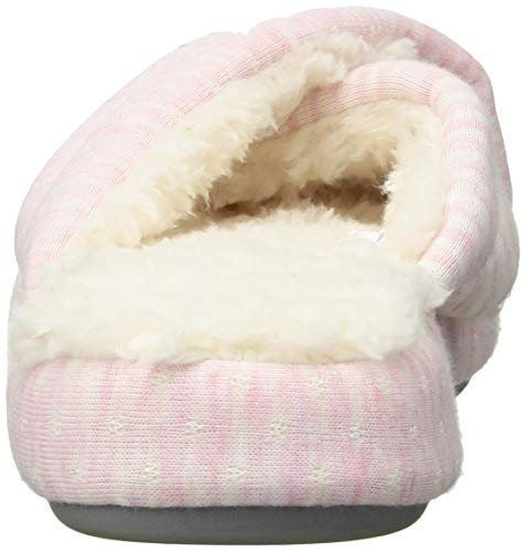Dearfoams Slide Mixed Print Band Slipper Platfoam Pink Women's X xqFxzfwv7