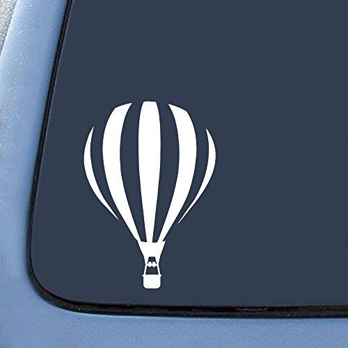 Bargain Max Decals Hot Air Balloon Silhouette Decal Notebook Car Laptop 5.5