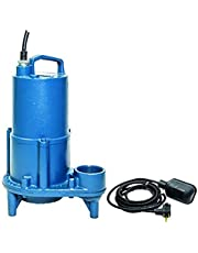 "Barnes 103544 Model SEV412AT Sewage Pump with Wide Angle Switch, 1/2 hp, 115V, 1 Phase, 2"" NPT Discharge, 71 GPM, 25' Head, 20' Cord, Automatic"