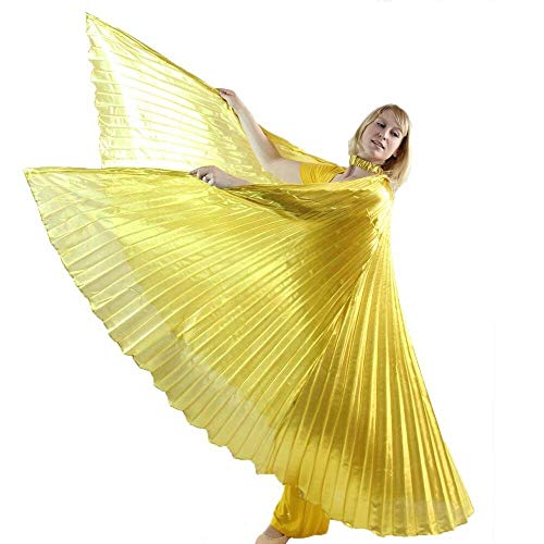 Danzcue 360 Degree Worship Isis Wings, Solid Gold, M-L-Adult