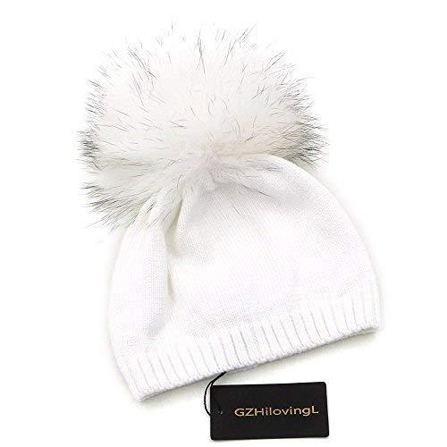 GZHILOVINGL 6-36 Month Kids Knit Pom Beanie Hat Baby Spring Cotton Crochet Bonnet
