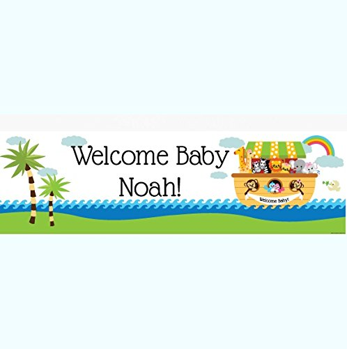 Noah's Ark Baby Shower 5 Ft. Large Personalized -