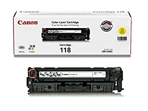 Genuine Canon Toner Cartridge 118, Yellow