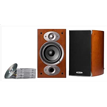Polk Audio RTI A1 Bookshelf Speakers Pair Cherry