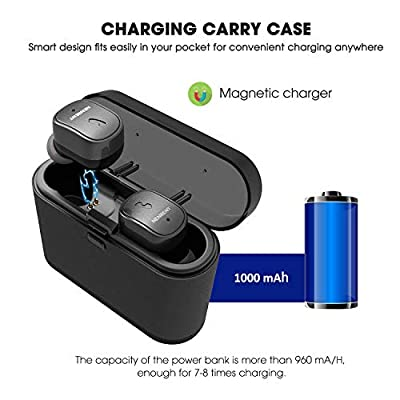True Wireless Earbuds, NENRENT S571 TWS Bluetooth 5.0 Headphones Deep Bass HiFi 3D Stereo Sound, in-Ear Sport Sweatproof Earphones with Built-in Microphone and Charging Case for Gym Running Workout