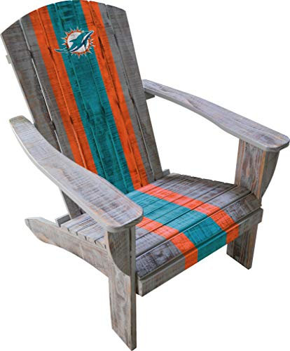 Imperial Officially Licensed NFL Furniture: Distressed Wooden Adirondack Chair, Miami Dolphins - Miami Dolphins Nfl Billiard Balls