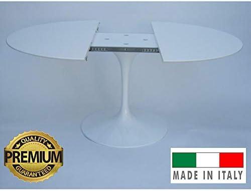Tavoli.Design Mesa Tulip Eero Saarinen Extensible diam. cm 100 ...