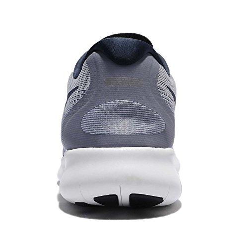 Nike Run Running De Free bleubinaire Gris grisloup Homme bleucielfoncé 2017 Chaussures rrqx6R7