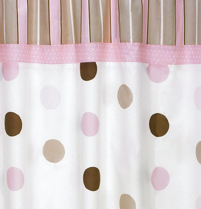 Amazon.com: Sweet Jojo Designs Pink And Brown Mod Dots Kids Bathroom Fabric  Bath Shower Curtain: Baby