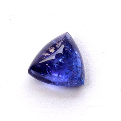 Be You Bleu Couleur Naturelle Afrique Tanzanite Good Qualité 8.5x8.5x5 mm Taille Cabochon Triangle Forme 1 pcs de Pierres précieuses en Vrac