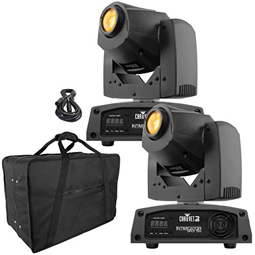 (2) Chauvet DJ Intimidator Spot 155 Bright Compact LED Moving Heads & Case Package