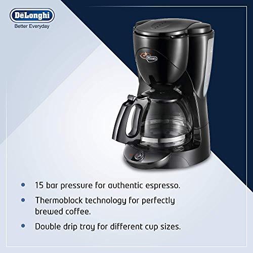 Delonghi ICM2 1000-Watt 10-Cup Drip Coffee Machine (Black)