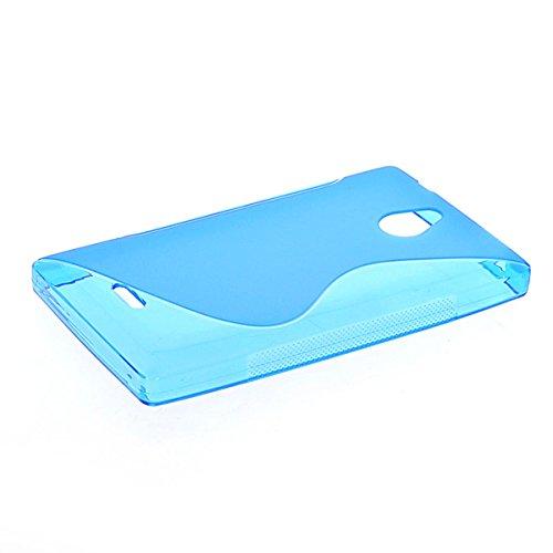 Nokia X2 Dual SIM Case,COOLKE [Blue] BLUE New Beautiful Lines Design Silicone Soft Case Cover For Nokia X2 Dual SIM
