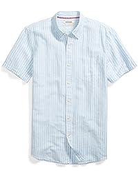 Men's Standard-Fit Short-Sleeve Linen and Cotton Blend Shirt