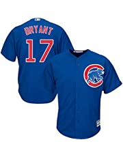 YQSB Camiseta Deportiva Baseball Jersey Grandes Ligas de Béisbol Chicago Cubs # 17 Bryant