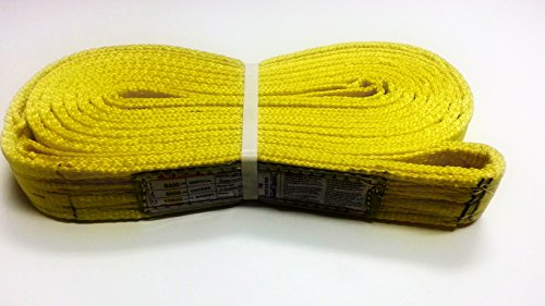2 Ply Web Sling - Trident Sling / Tow Strap. NEE2-902X10TS This (2-PLY) Type 3 Flat E/E Heavy Duty Nylon / Polyester Web Sling Is Ideal For All Lifting, Rigging, Towing, Recovery and Tie-Down Needs! (2