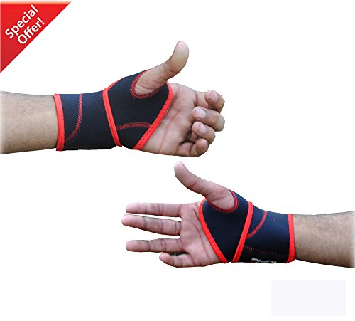 RAD One Pair Neoprene Wrist Thumb Brace Support Gym Weightlifting Wraps Strap New