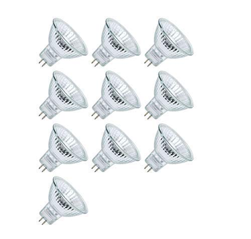 10pack MR16-12V-20W GU5.3 BAB Professional Halogen Bulb Quartz dichroic Reflector UV Stop Tempered Glass Cover dimmable for Indoor Outdoor spot - Philips Lamps Fl