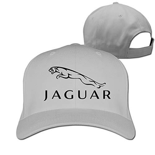 Censu Customized Funny Jaguar Logo Adjustable \r\n Baseball Hat for Men Women,Gray