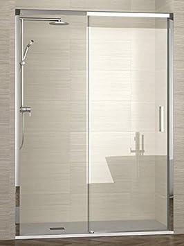 ALBAÑO-(Modelo Lyon) Mampara de ducha para frente fijo + corredera cristal 6 mm (167-171 cm): Amazon.es: Bricolaje y herramientas