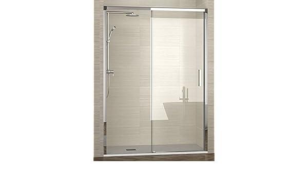 ALBAÑO-(Modelo Lyon) Mampara de ducha para frente fijo + corredera ...
