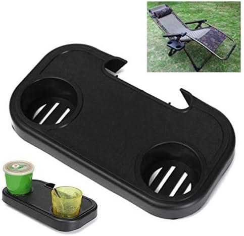 Vtops - Silla plegable portátil con bandeja lateral para bebidas, camping, picnic, playa, jardín: Amazon.es: Hogar