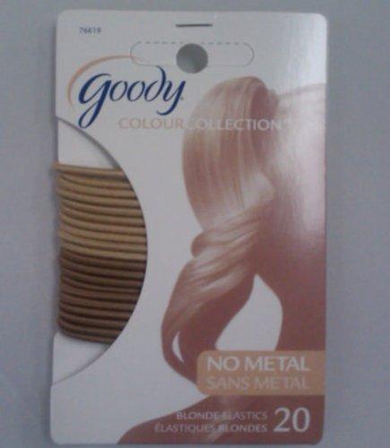 Goody Gd76619 Colour Collection No Metal Blonde Elastics 20