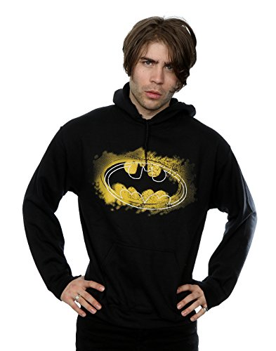 DC Comics Men's Batman Spray Logo Hoodie XX-Large Black -