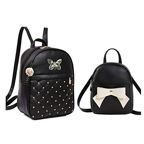 Shopyvid® 2 Set Combo Girls Butterfly Bowknot Cute Backpack Gifts for Sister