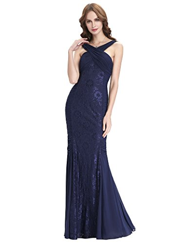 d0d658642a4 Kate Kasin Prom Dress Ladies Open Back Navy Blue Lace Elegant Dress  Sleeveless Mermaid Party Dress