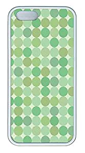 iPhone 5s Case, iPhone 5s Cases - Green Dots TPU Polycarbonate Hard Case Back Cover for iPhone 5s¨CWhite