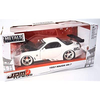 Jada 99479 1993 Mazda RX-7 White JDM Tuners 1/24 Diecast Model Car: Toys & Games